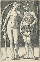 Hans Sebald Beham: Judith und Ihre Dienerin