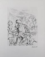 Oskar Kokoschka: Dionysos und Xanthias begegnen der Empuse: Erscheinung des Chors der Eingeweihten