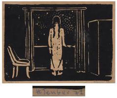 Hermann Teuber: Frau am Fenster