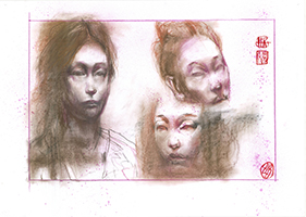 Per Gernhardt: Kopfstudie/Asiatin