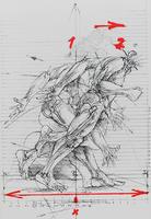 Vladimir Velickovic: Bewegungsskizze
