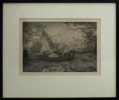 Otto Coester: Fischerboot