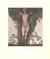 Ernst Fuchs: Erscheinung im Busch