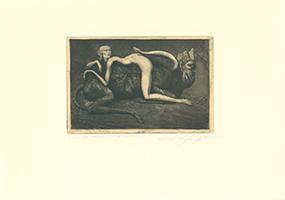 Ernst Fuchs: Liebesspiel der Nymphe