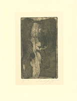 Ernst Fuchs: Eva-Nymphe (Im Griff der Sphinx)