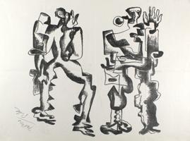 Ossip Zadkine: Deux Figures