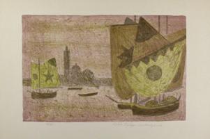 Max Peiffer Watenphul: Venedig, San Giorgio Maggiore mit Segel