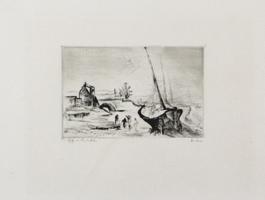 Friedrich Heubner: Schiffe im Hinterhafen