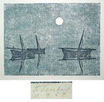 Hermann Teuber: Blaue Boote