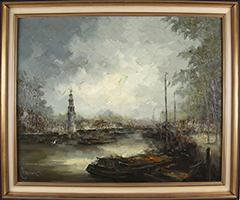 John Bevort: Gracht in Amsterdam