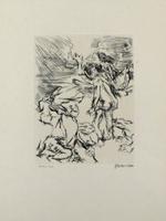 Oskar Kokoschka: Dionysos und der schwer beladene Xanthias am Totensee