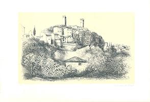 Christian de Moor: S. Miniato visto dalle Colline