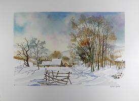 Daniel Lanoux: Chalet en hiver
