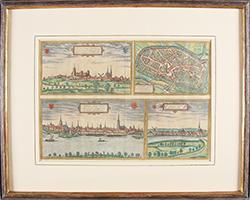 Braun Hogenberg: Kleve - Duisburg - Emmerich - Gennep 1572-1595