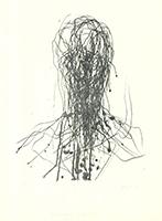 Max Uhlig: Männerkopf (im Gegenlicht)