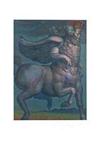Ernst Fuchs: Pegasus und Muse