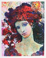 Ernst Fuchs: Mädchen mit roter Haube