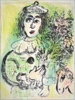 Marc Chagall: Le Clown fleuri - Blumengeschmückter Clown