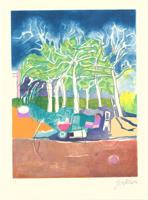 Franco Gentilini: Bambino in giardino