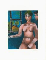 Franco Gentilini: Weiblicher Akt am Fenster