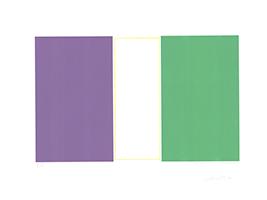 Waldo Balart: Rectanqulo de Oro Violeta-Verde