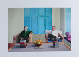 David Hockney: Christopher Isherwood and Don Bachardy