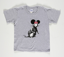 Banksy: Dismaland Bemusement Park Rat Collectible (grey)