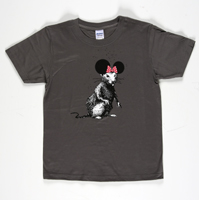 Banksy: Dismaland Bemusement Park Rat Collectible (dark grey)