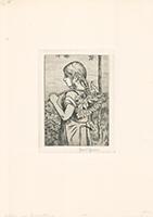 Hans Thoma: Mädchen mit Sonnenblume