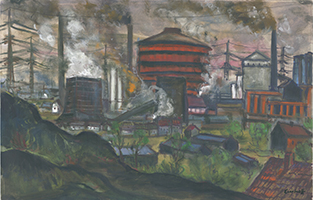 Friedrich Einhoff: Der rote Gasometer