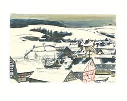 Friedrich Einhoff: Winterlandschaft