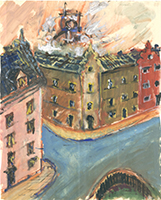 Friedrich Einhoff: Stadtansicht