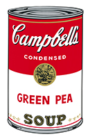 Andy (after) Warhol: Campbell´s Green Pea Soup