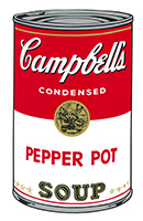 Andy (after) Warhol: Campbell´s Pepper Pot Soup