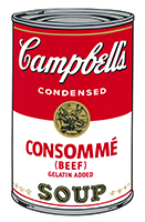 Andy (after) Warhol: Campbell´s Consommé (Beef) Soup