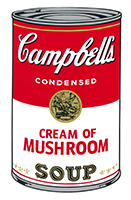 Andy (after) Warhol: Campbell´s Golden Mushroom Soup