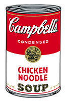 Andy (after) Warhol: Campbell´s Chicken Noodle Soup