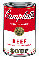 Andy (after) Warhol: Campbell´s Beef Soup