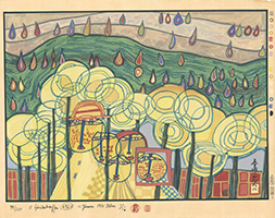 Friedensreich Hundertwasser: The rain falls far from us