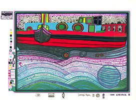 Friedensreich Hundertwasser: Regentag auf Liebe Wellen