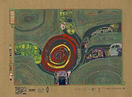 Friedensreich Hundertwasser: Kreisverkehr der Straßengekreuzigten