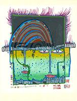 Friedensreich Hundertwasser: Winter lichterloh
