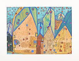 Friedensreich Hundertwasser: Häuser im Blutregen