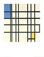 Piet Mondrian: Rhythmus aus schwarzen Linien