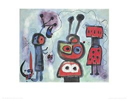 Joan Miró: L´ Oiseau au regard calme les ailes en flammes