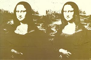 Andy Warhol: Two Golden Mona Lisa - GROSS