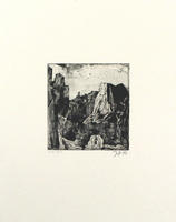 Horst Janssen: Landschaft - nach Redon