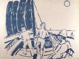 Friedrich Karl Gotsch: Matrosen an Bord