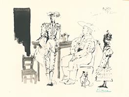 Pablo Picasso: Deux Picadors et Femme