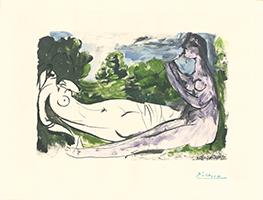 Pablo Picasso: Femme nue et joueuse de flûte